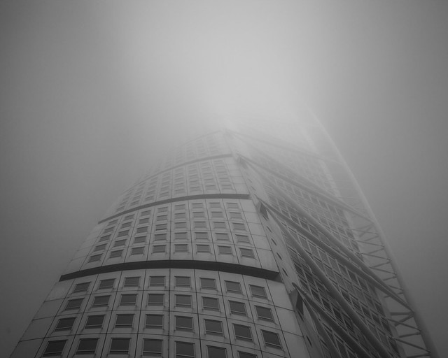 Turning Torso In Fog
