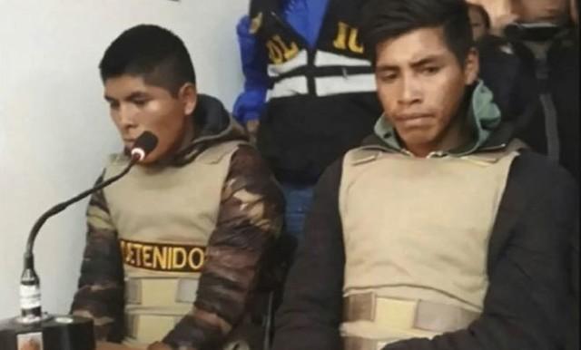 Jainor Huilca y Luzgardo Pillco, declarando en el juicio celebrado a principios de año