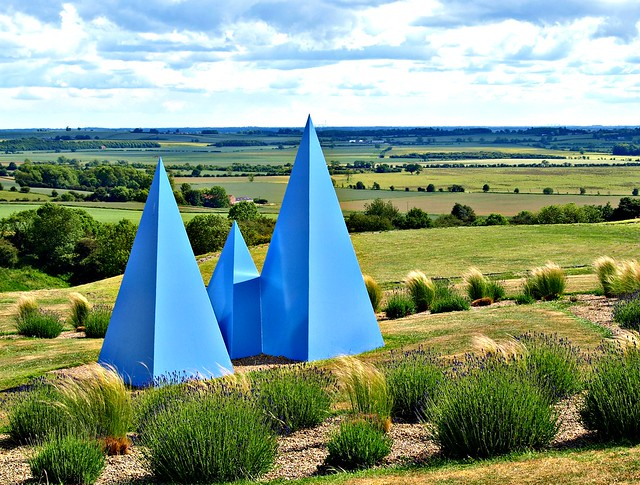 Blue shapes in a Yorkshire countryside