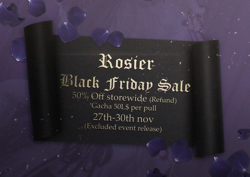 {Rosier} Black friday sale is coming!