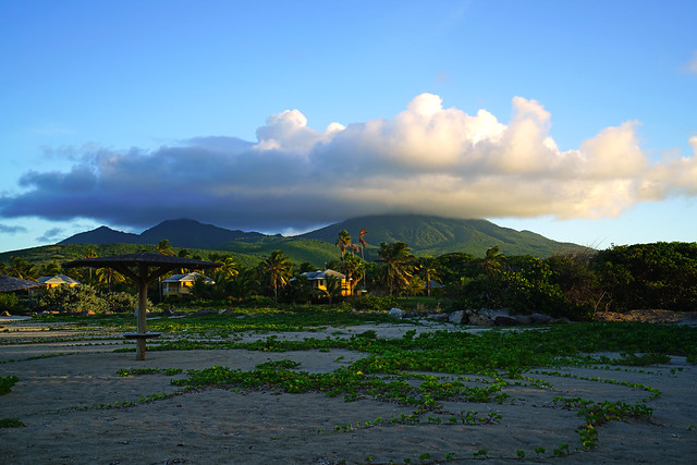 Nevis Peak from Nisbet Beach Club, St Kitts & Nevis
