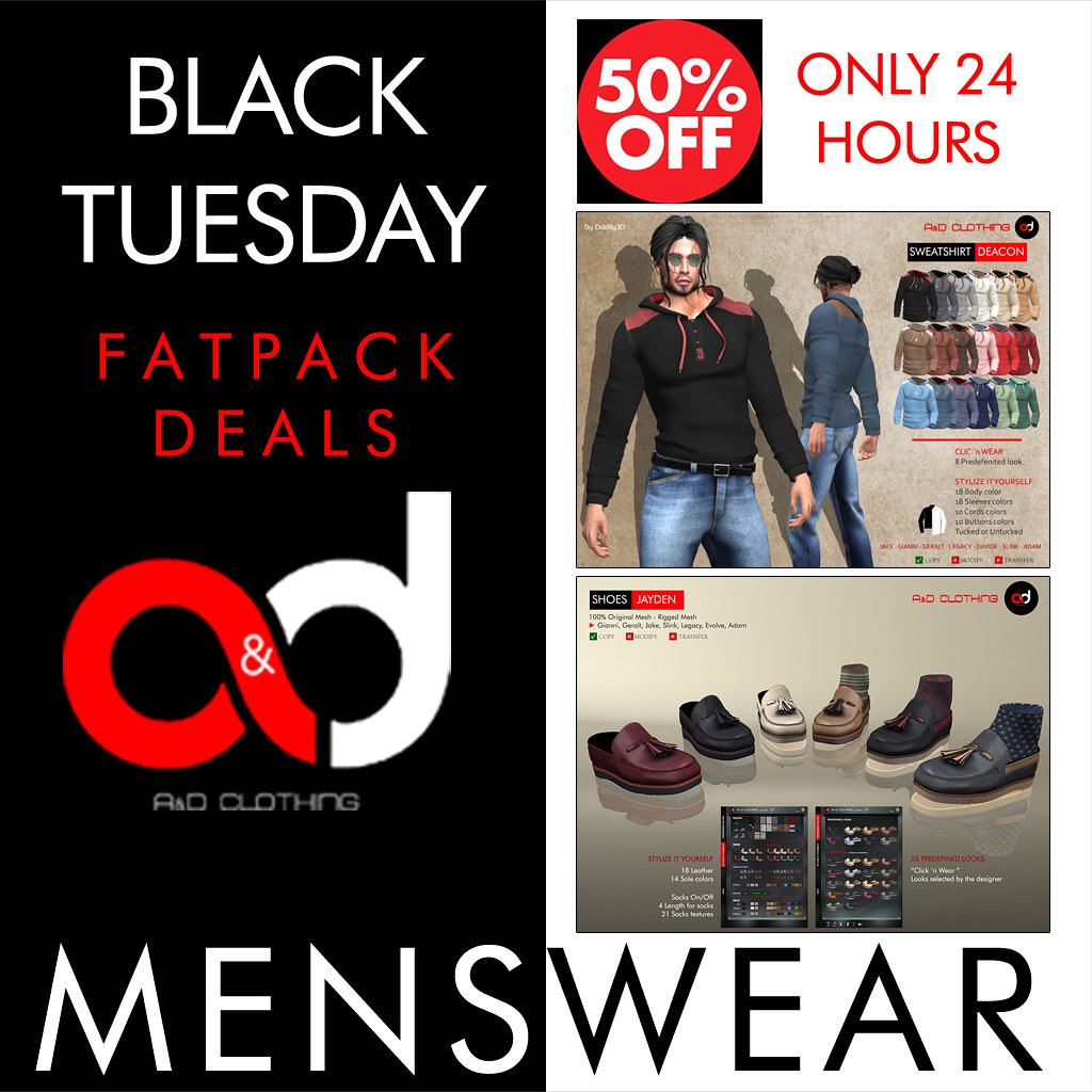 ! A&D Clothing – Black Tuesday 50% Off