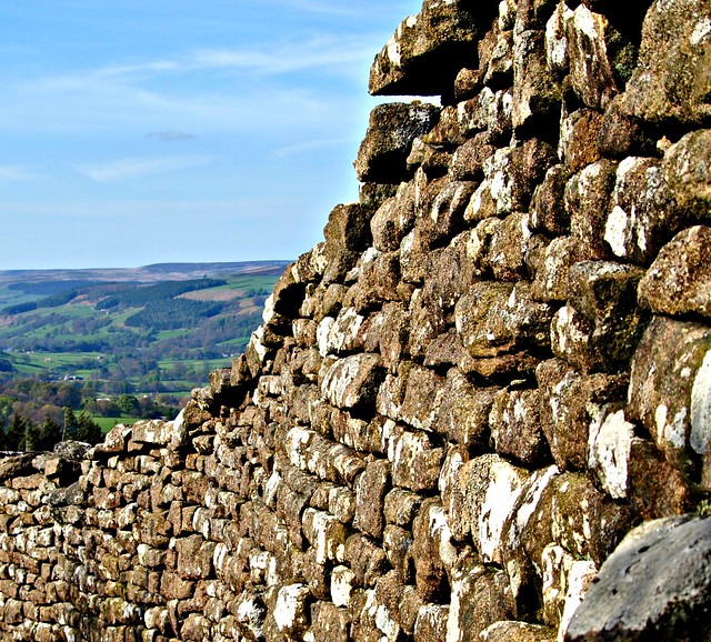 Dry stone wall high up in Yorkshire