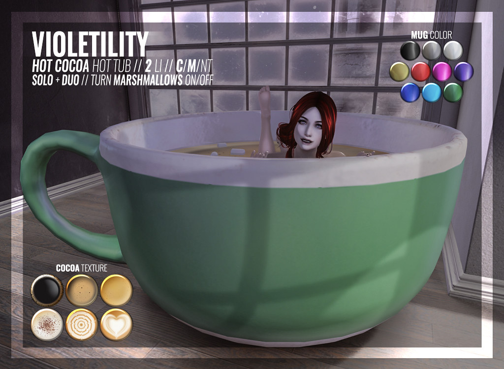 Violetility – Hot Cocoa Hot Tub