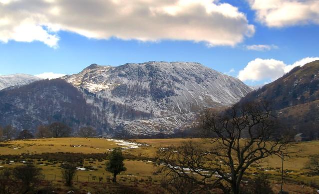 Icy mountain in Cumbria