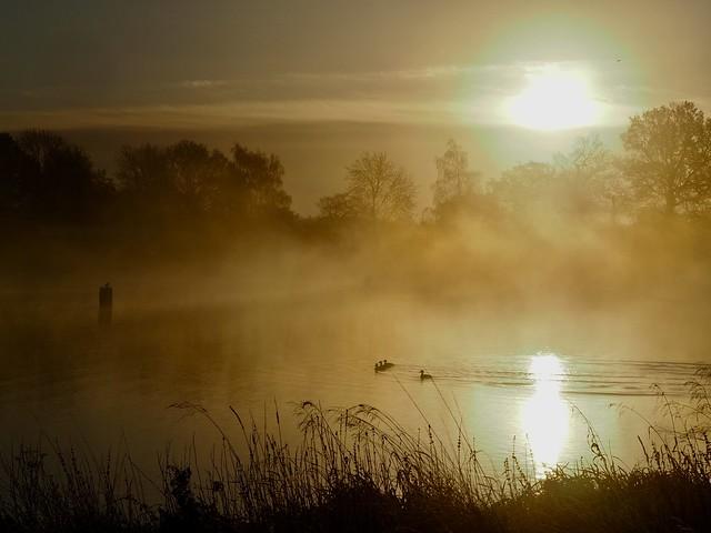 Sunrise over Gunwade Lake.