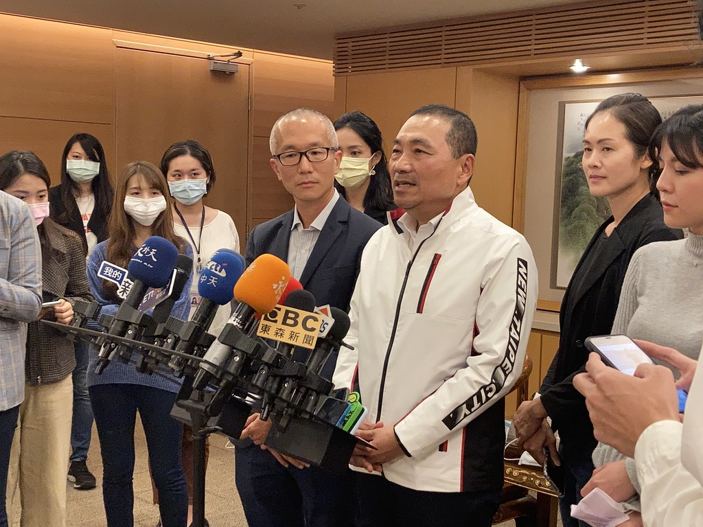 新北市長侯友宜宣布氣候政策及目標。黃思敏攝