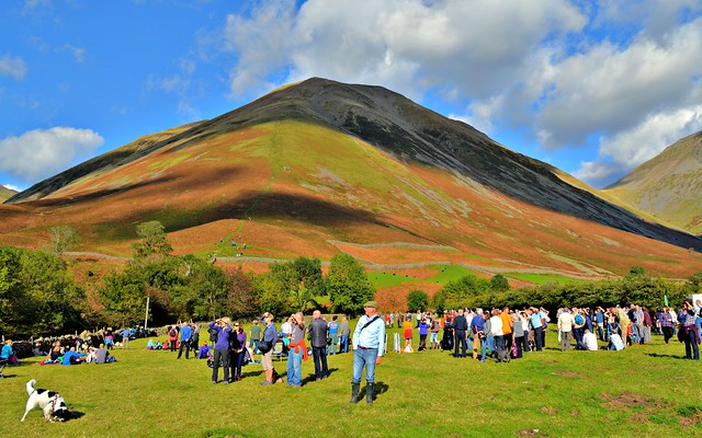 People at the Wasdale Head Country Show in Cumbria