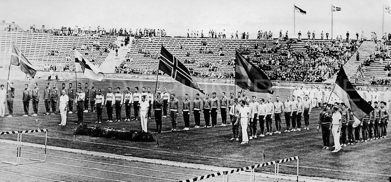 Aufstellung der Nationen zum Juniorenländerkampf im Rahmen der Ostseewoche 1962