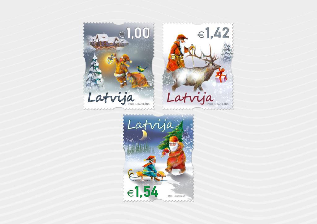 Ziemassvētku sērijas pastmarkas 2020.gadā - Latvijas Pasts - Flickr