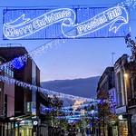 Christmas sign at Preston