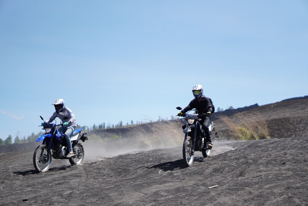 Berwisata riding WR 155 R ke Black Lava Kintamani Bali