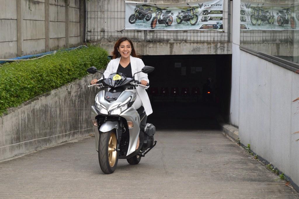 Chacha Sherly Test Ride All New Aerox