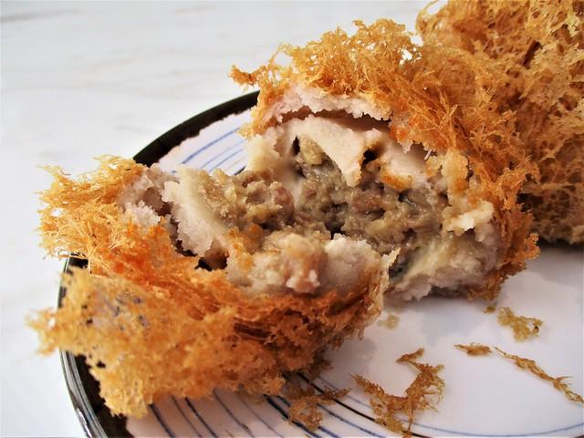 Nam Heong crispy taro puffs, inside