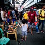 Street scene with family, Manila (The Philippines)