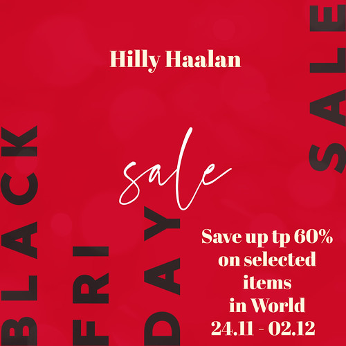 HILLY HAALAN - BLACK FRIDAY SALE!