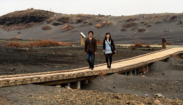 Walking on Lava ground / Aso-San / Japan
