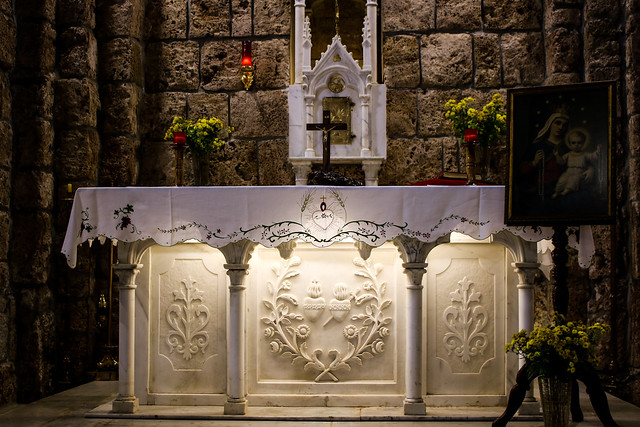 Saint Anthony the Great Monastery Houb Tannourine Lebanon Ancient Altar