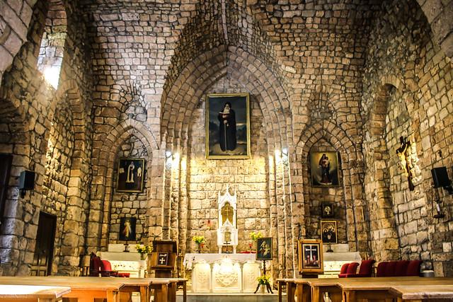 Saint Anthony the Great Monastery Houb Tannourine Lebanon Inside of the old Maronite Church