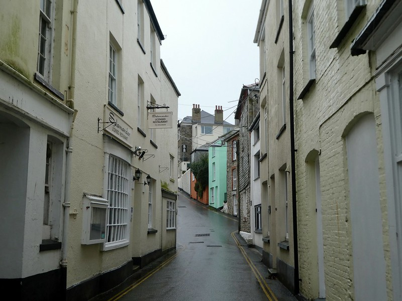 Narrow streets in Mevagissey