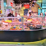 Butchers stall at Preston Market