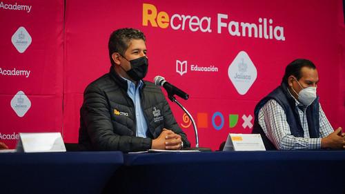 24 Nov 2020 . Secretaría de Educación Jalisco . Conferencia de prensa para dar a conocer las actividades de Recrea Academy y Recrea Familia los días 7, 8 y 9 de diciembre en Expo Guadalajara.