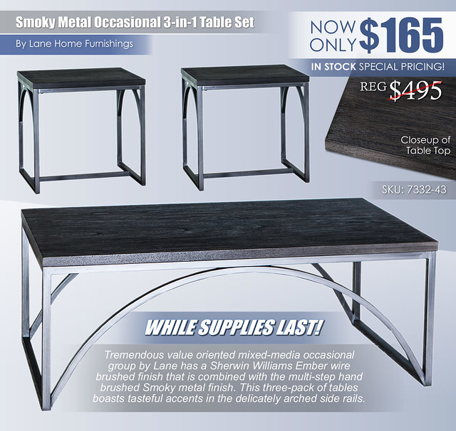 Smoky Metal 3-in-1 Occasional Table Set by Lane Home Furnishings_7332-43_FinalSale