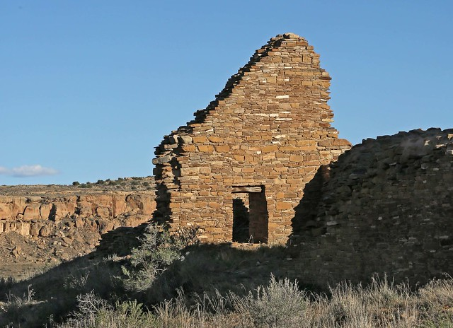 Ruins at Pueblo del Arroyo / Chaco Canyon NHP