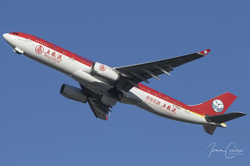 Airbus A330-343 – Sichuan Airlines – B-5923 – Brussels Airport (BRU EBBR) – 2020 11 20 – Takeoff RWY 25R – 02 – Copyright © 2020 Ivan Coninx