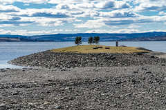 Low water level in Mjøsa