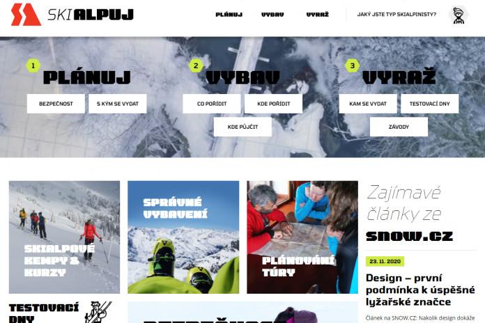 Skialpuj.cz: webový průvodce prvními kroky na skialpech
