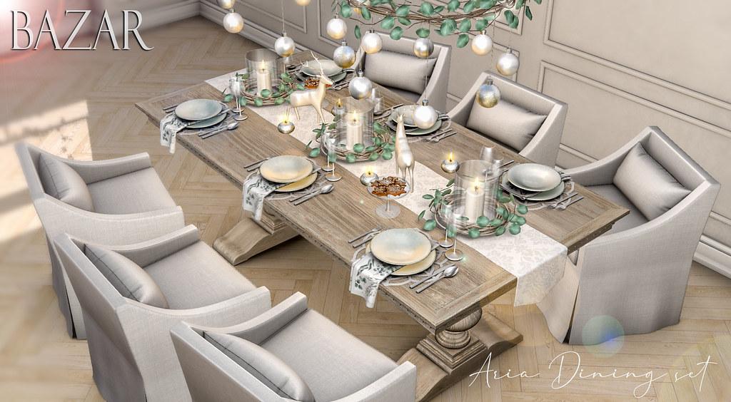 ~BAZAR~Aria dining set