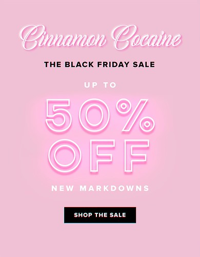 50% off most items