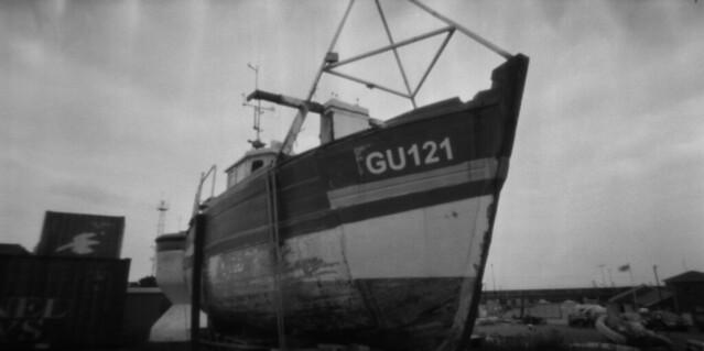 Alderney boat pinhole