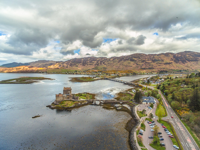 Eilean Donan from the air