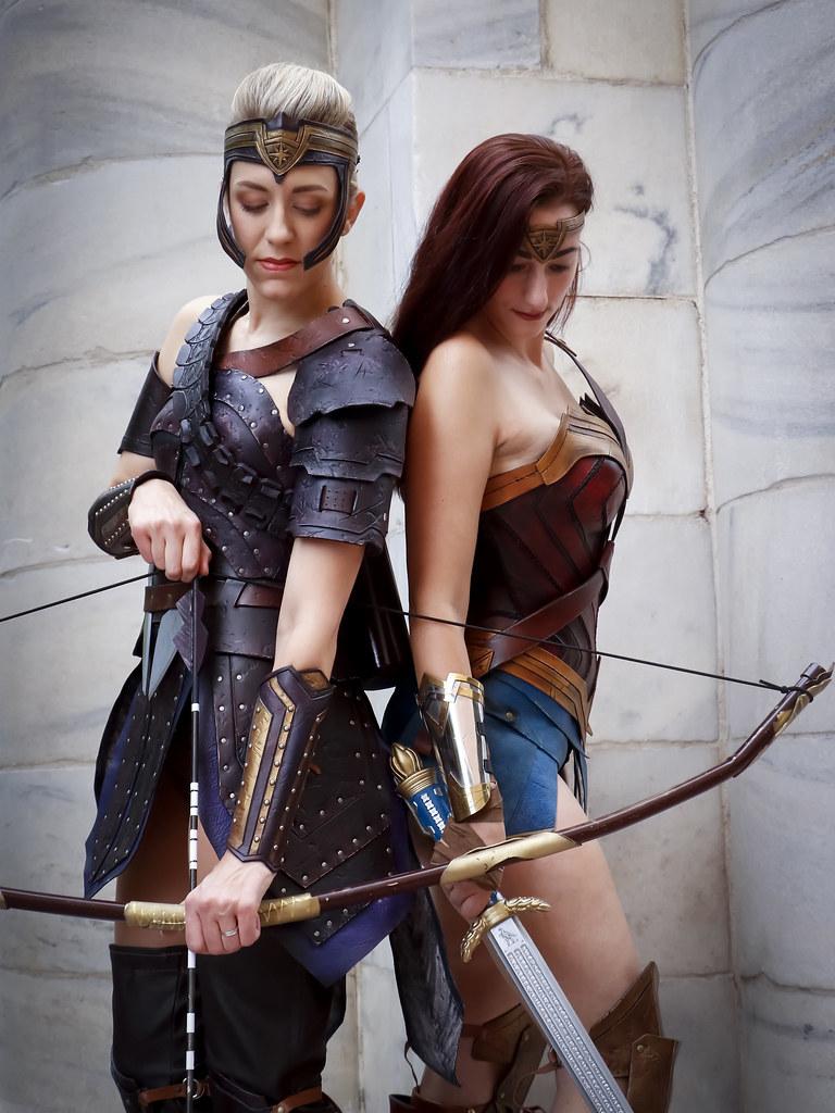 Amazonian archer and Wonder Woman