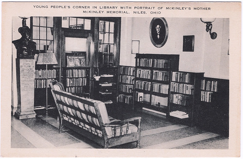 Young People's Corner in the Library with Portrait of McKinley's Mother, McKinley Memorial, Niles, Ohio (Date Unknown) | by Sent from the Past