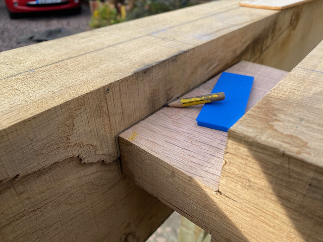 Marking the mortice from the tenon