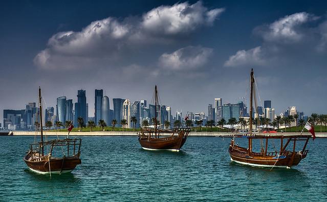 Fleet of Dhows in Doha, Qatar [Explore]