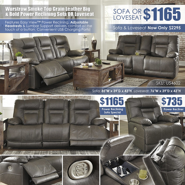 Wurstrow Smoke Reclining Sofa OR Loveseat_U54602_Updated_Details_