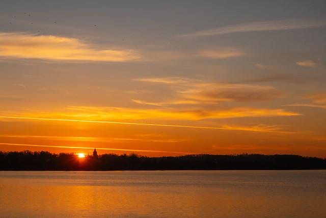 Sunset at Pławniowice lake