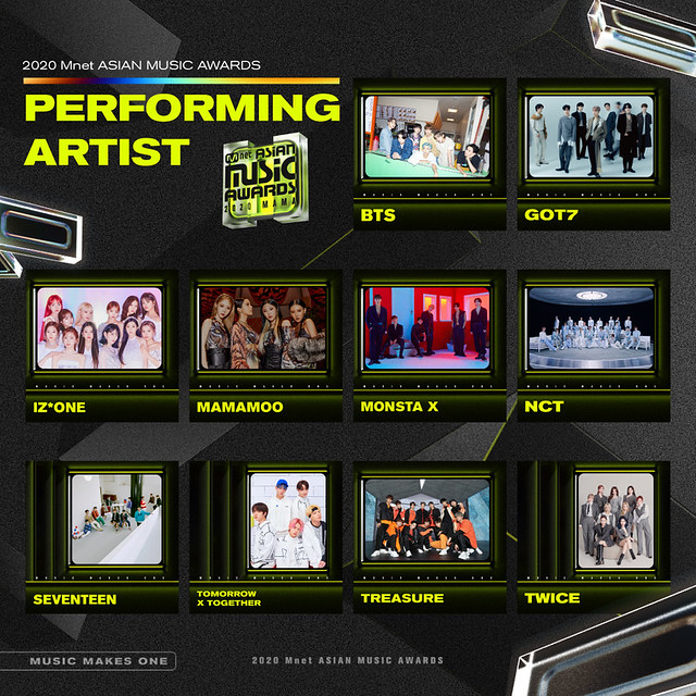 2020 MAMA Performing Artist Poster