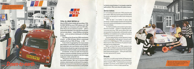 Extract from Total Oil Great Britain brochure, 1987
