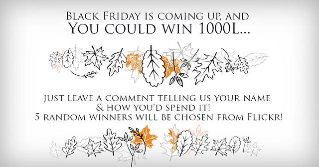 Black Friday Flickr Giveaway!
