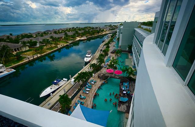 Resort view on Bimini Island, Bahamas