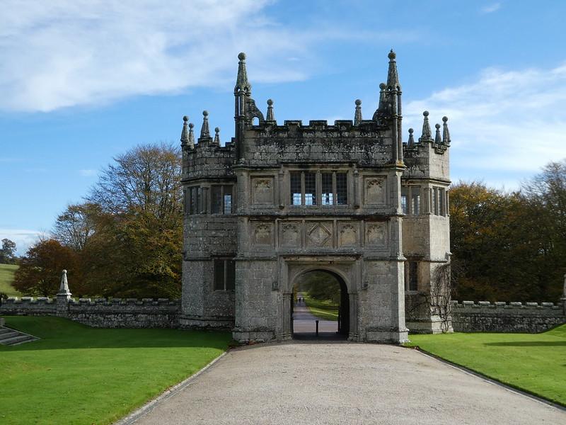 Entrance gateway to Lanhydrock, Cornwall