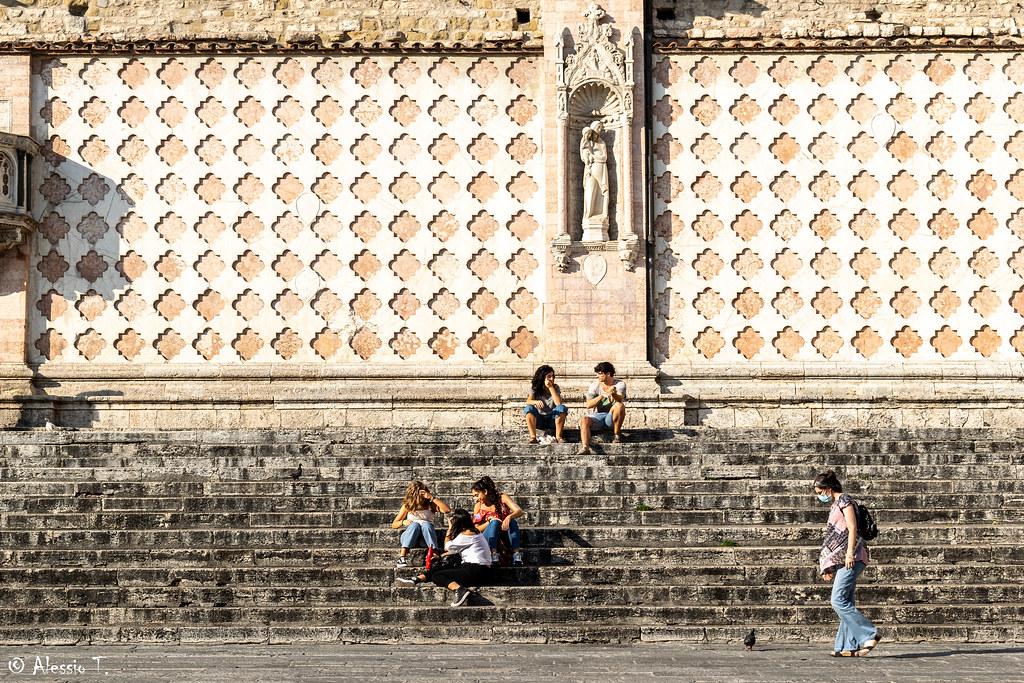 Perugia - Scalinata cattedrale di San Lorenzo