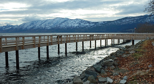 Long pier in Peachland in the BC Okanogan, Canada