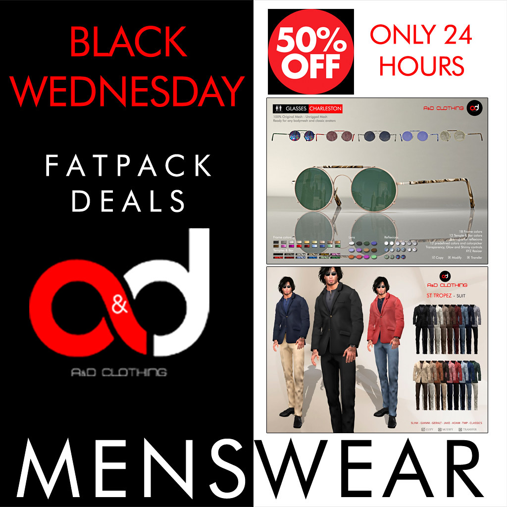 ! A&D Clothing - Black Wednesday 50% Off