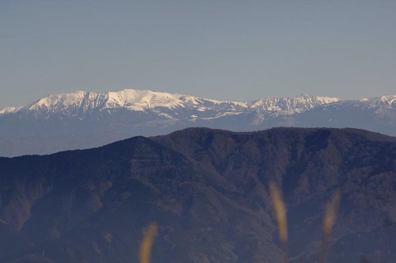 医王山からの北アルプス